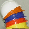 Safety helmets for children - stocked in yellow and white. Also available in blue, orange and red